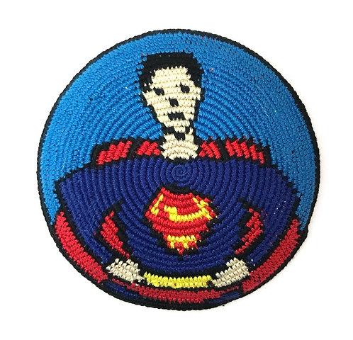 Superman knitted kippah