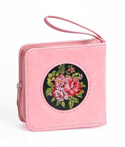 Tehilim pocket size, pink with zip