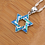Thumbnail: Star of David Pendant Necklace, turquoise Number:PO160605