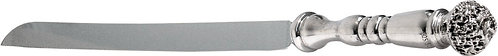 Challah Knife Challah Design Silver 925 Electroforming Size 33*03 Cm. Weight 0.1
