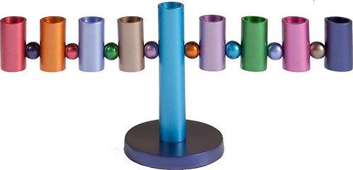 Yair Emanuel Hanukkah Menorah in Multicolord coloured HMP-2