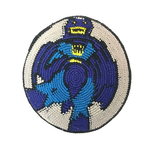 Super hero bat knitted kippah #016
