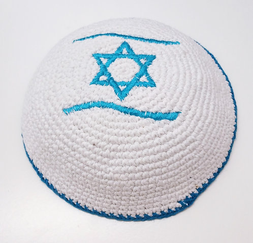 Knitted kippah hand made #458