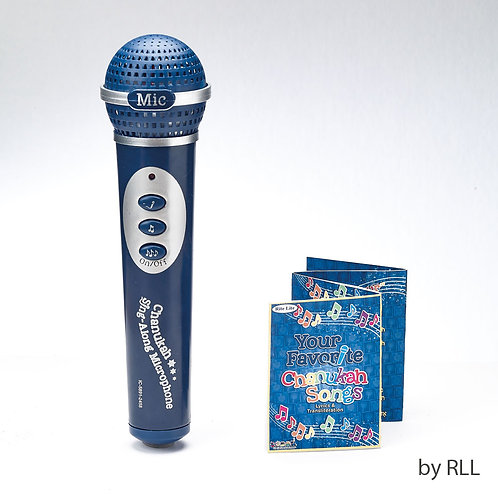 CHANUKAH SING-ALONG MICROPHONE, 5 SONGS, CLAMSHELL