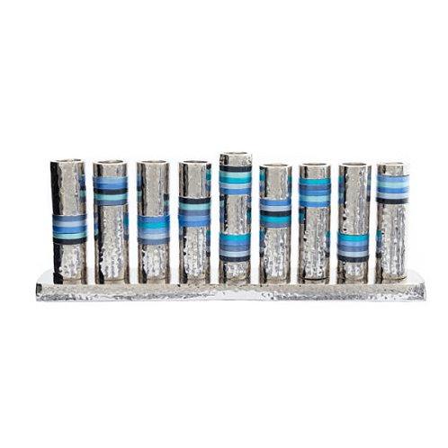Hanukkah Menorah - Rings - Blue HMV-2