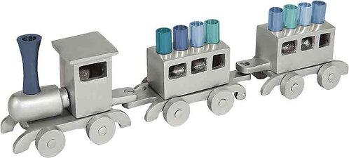Yair Emanuel grey & blue Train  Menorah HMY 1