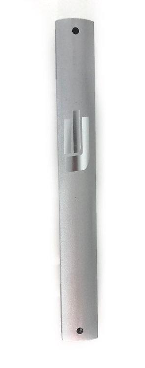Aluminium grey mezuzah case letra 10 cm