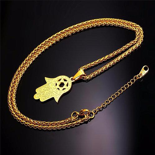 Hamsah Necklace gold Model Number :P9352