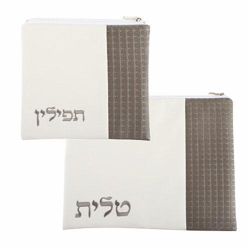 Elegant P.U. Fabric Tallit & Tefillin Set 30X36 cm
