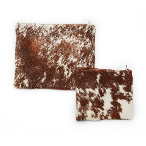 Genuine fur Leather Tallit and Tefillin bag brown FR03