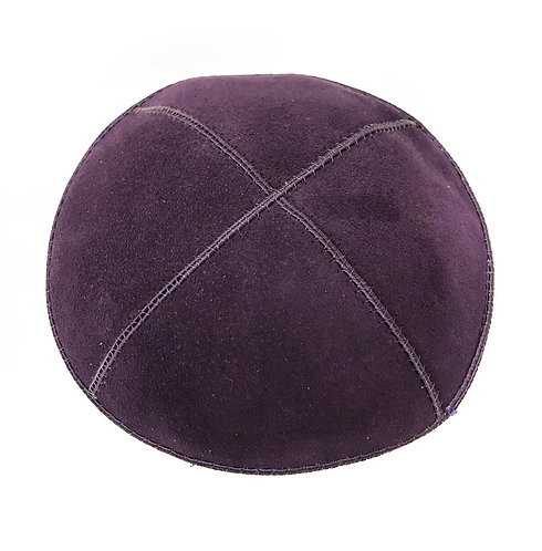 Dark Purple Suede Kippah