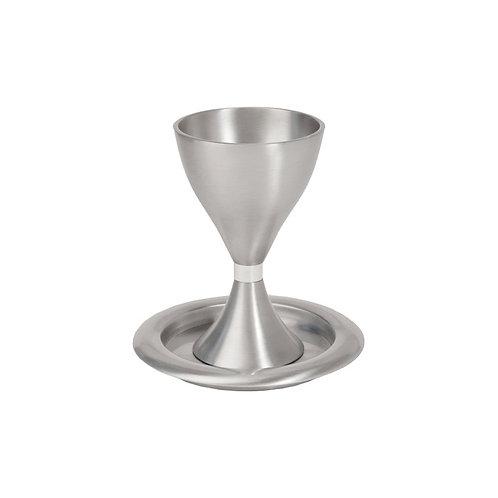 Yair Emanuel Aluminum Kiddush Cup with Modern Desi