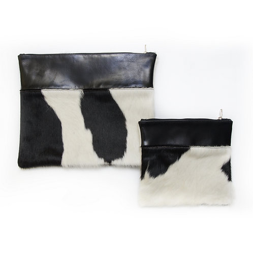 Genuine mix fur Leather Tallit and Tefillin bag black MFR04