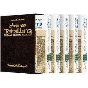Tehillim /Psalms - 5 Volume Slipcased Personal Size Se