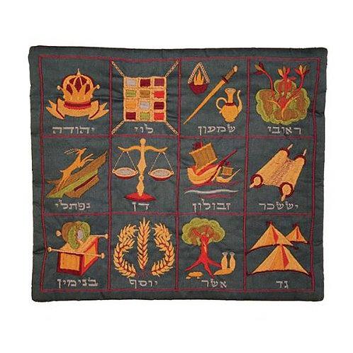 Tallit Bag - Machine Embroidery - 12 Tribes BlueTBC-1B
