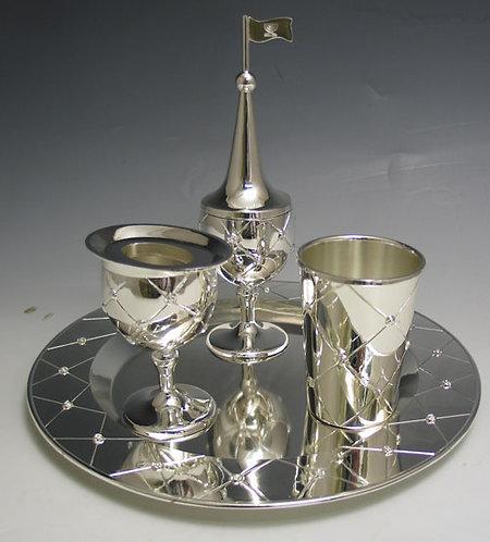 Silver plated havdalah set #A42133