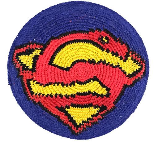 Super hero knitted kippah #14