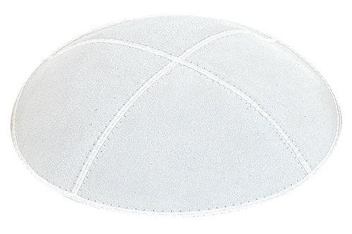 White suede kippah