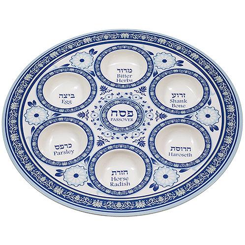 Melamine Seder Plate 35 cm- Blue