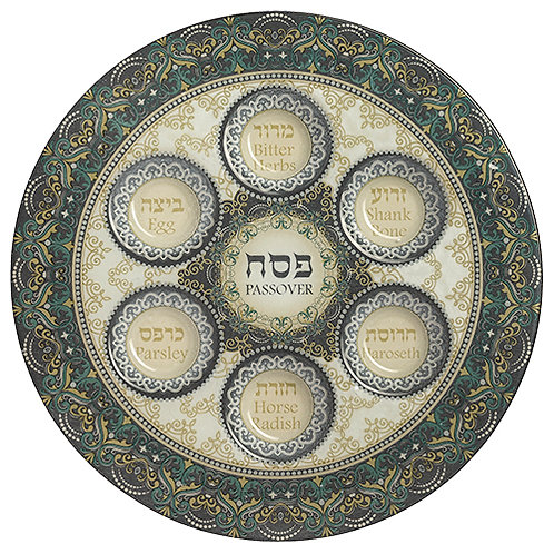 Glass Seder plate UK44226