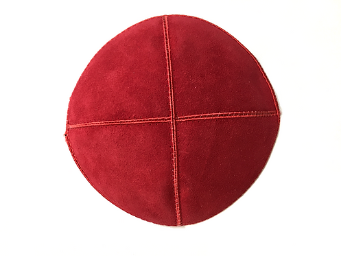 Red Suede Kippah