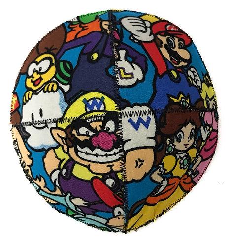 Mario fabric kippah #01