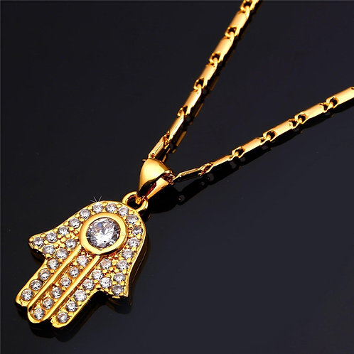 Hamsah Necklace Gold Model Number :P691