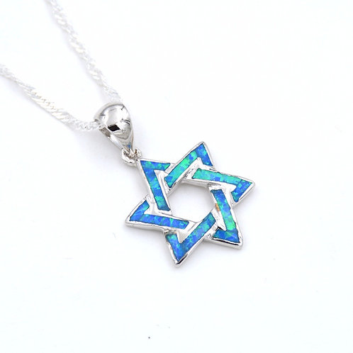 Star of David Pendant Necklace, turquoise Number:PO160605
