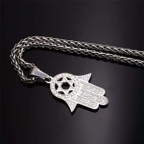 copy of Hamsah Necklace silver Model Number :P692