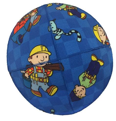 Bob the builder Fabric Kippah #02