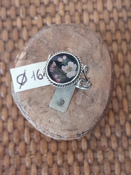 Anello fondo nero, argentatura anticata, nichel free