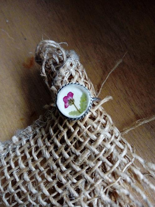 anello regolabile fondo bianco, silver plate senza nichel