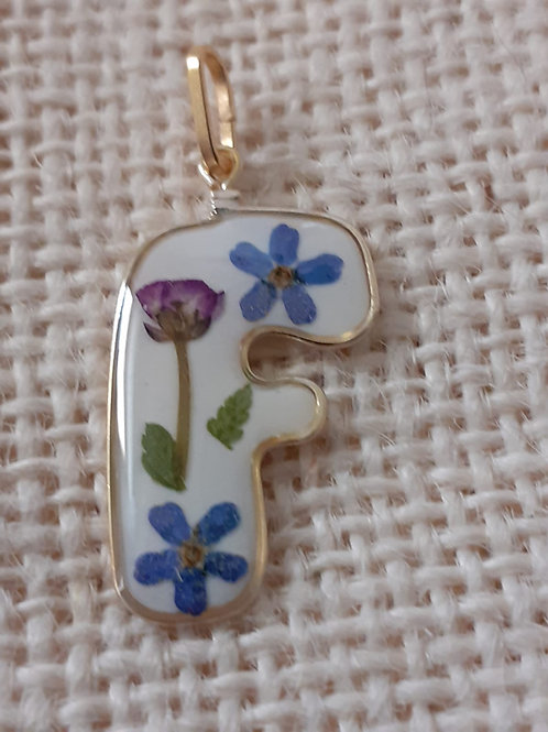 iniziale free nichel, fiori:miosotys, alisso viola