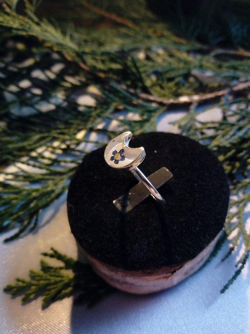 anellino regolabile silver plate con fiore