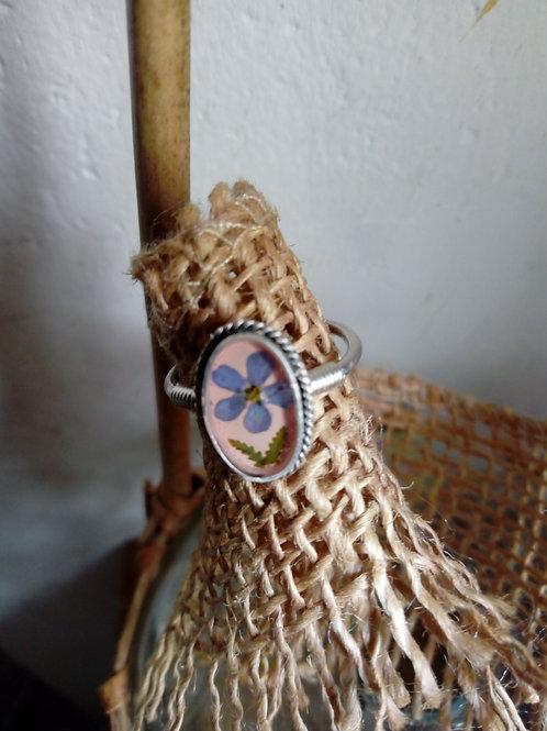 anello regolabile in silver plate (argentatura anticata senza nichel)l)