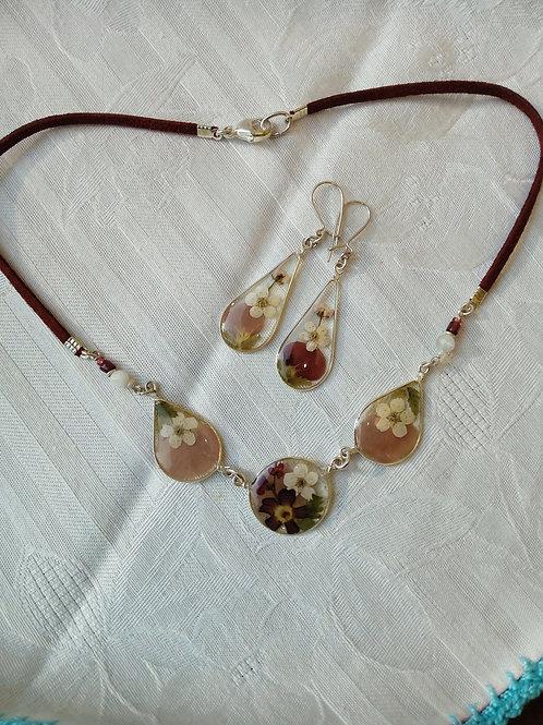 collana girocollo +orecchini monachella argento 925