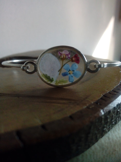 braccialetto filo rigido,argentatura lucida senza nichel