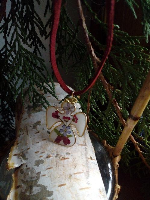 collana angioletto, ottone doratura nichel free