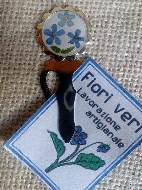 segnalibro con fiori pressati, nichel free