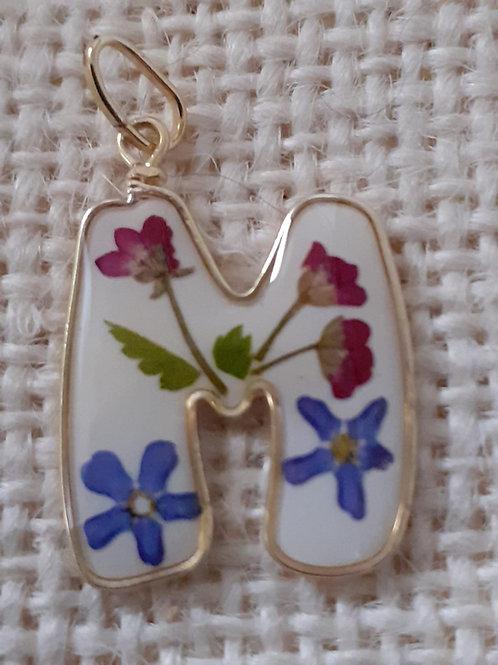 iniziale, nichel free, fiori:miosotys, alisso, felce