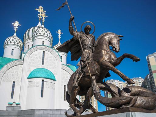 Андрей Воробьев принял участие в церемонии открытия памятника Георгию Победоносцу