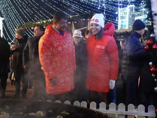 Вице-губернатор региона Наталья Виртуозова открыла рождественскую ярмарку в Солнечногорске
