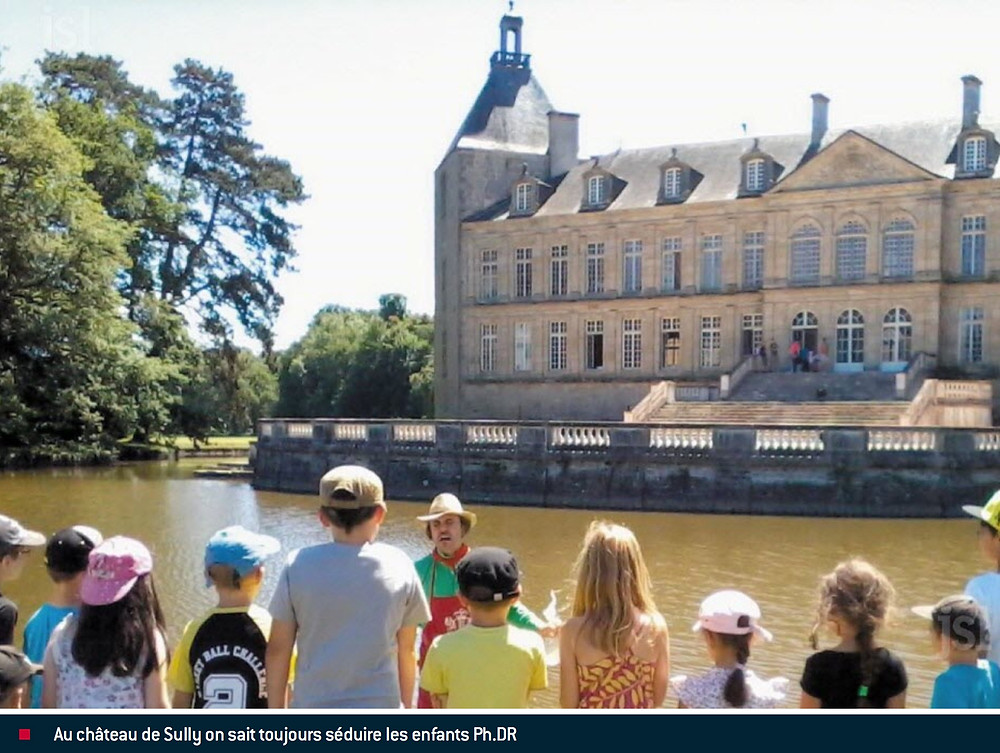 Avril Visites enfants Chateau de Sully en Bourgogne