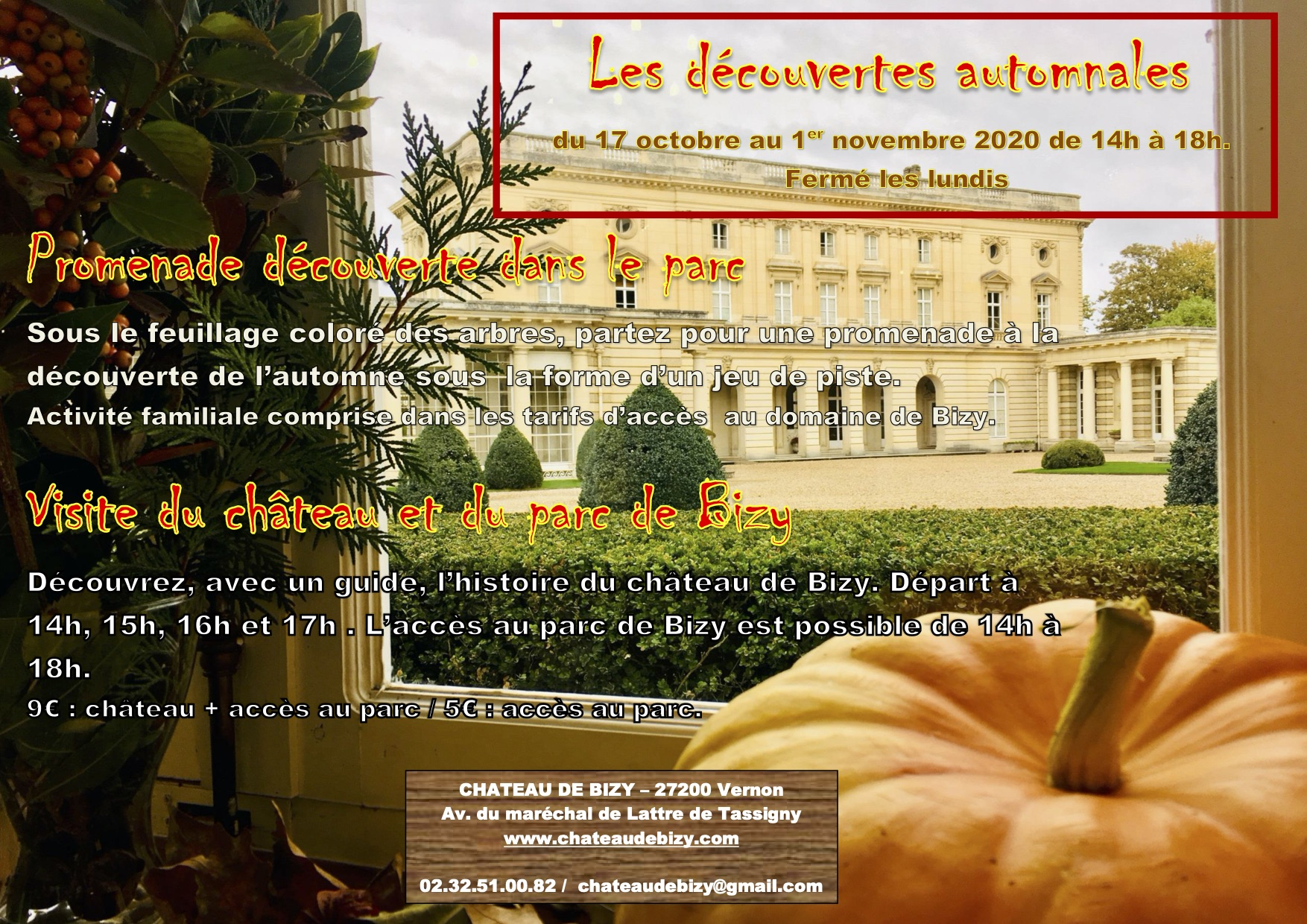 octobre chateau normandie Bizy enfants