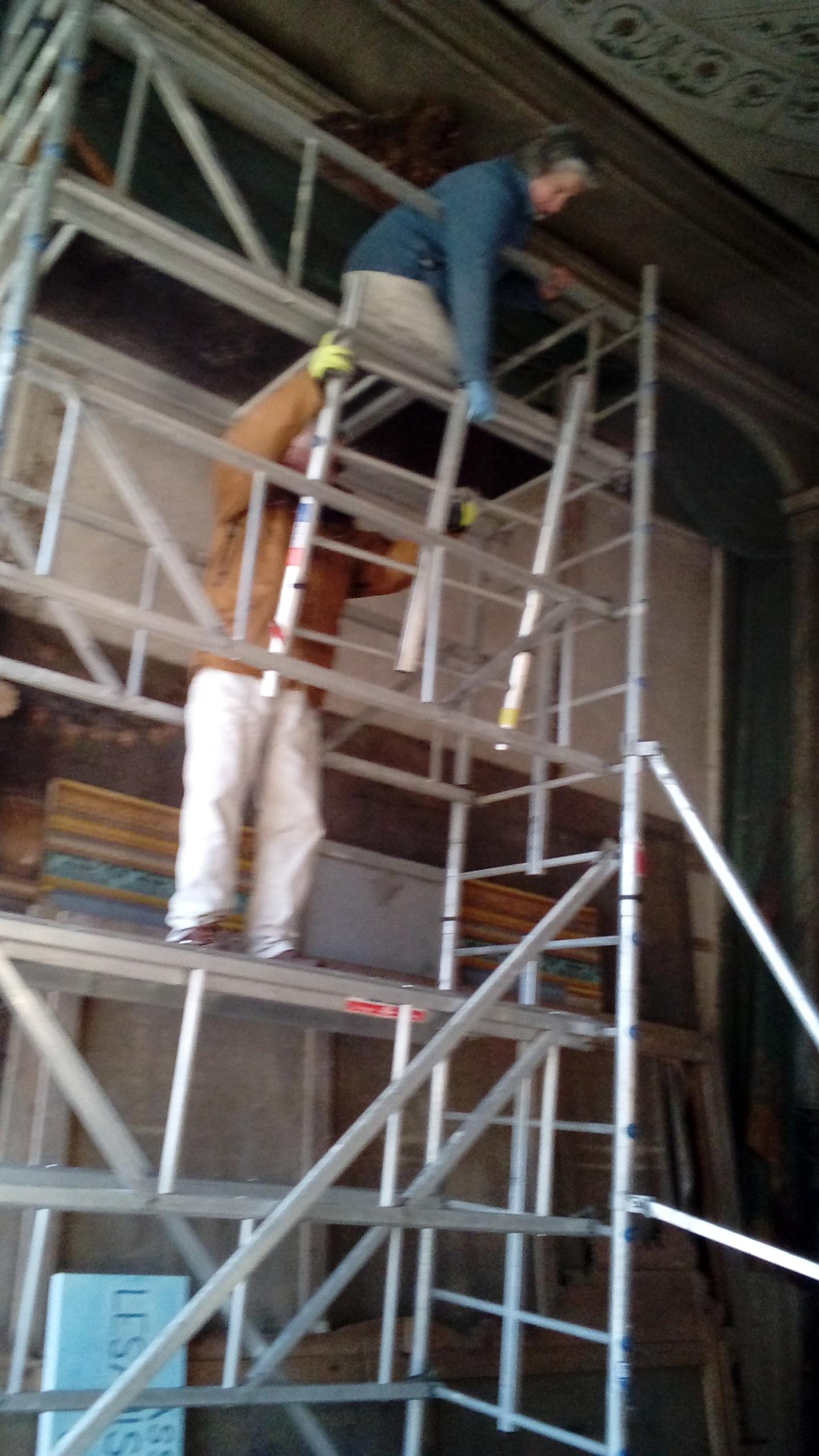 etude travaux du Theatre a l'Italienne du chateau de Sully