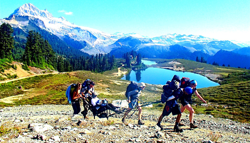 TrailRider being used at Elfin Lakes, British Columbia. Picture Credits: Disability Foundation