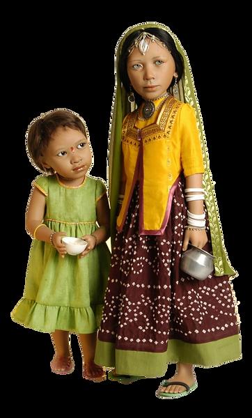 Wereld kinderen van porselein