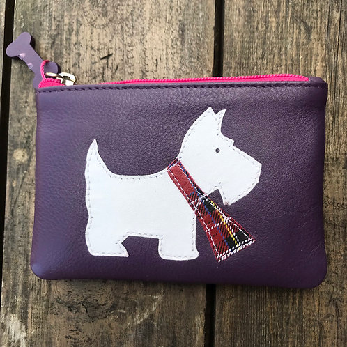 Leather Scottie Dog Coin Purse