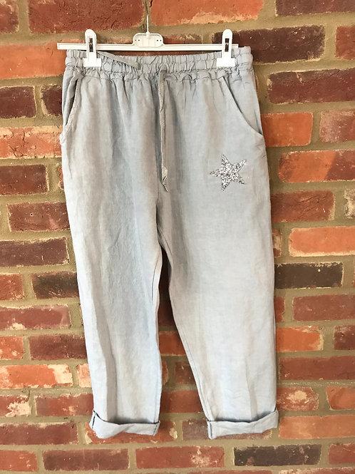 Star Trousers - Linen mix