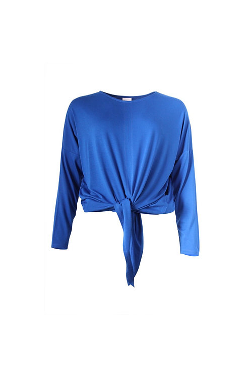 Tie Front Long Sleeved Top